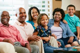 3 generation minority family
