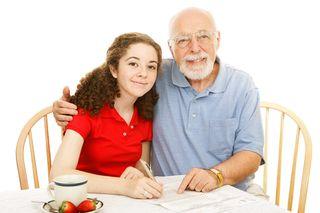 Grandfather - granddaughter